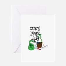 Crazy Plant Lady Greeting Cards