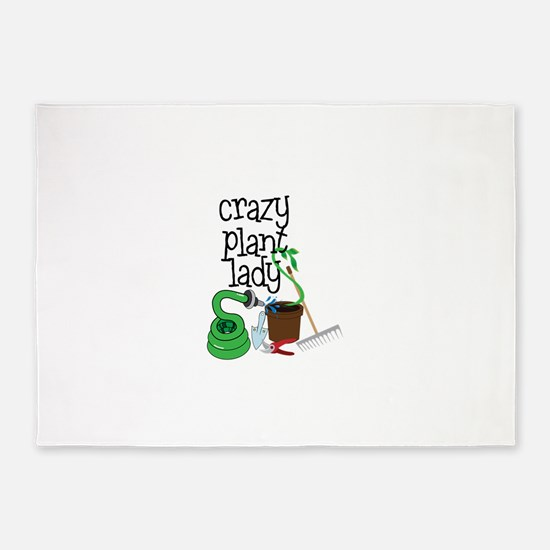 Crazy Plant Lady 5'x7'Area Rug