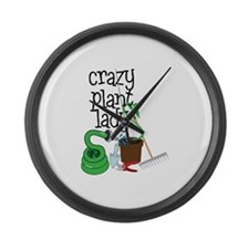 Crazy Plant Lady Large Wall Clock