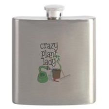 Crazy Plant Lady Flask