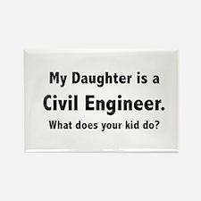 Civil Engineer Daughter Rectangle Magnet