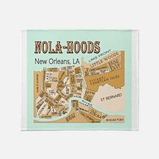 NOLA-Hoods Throw Blanket