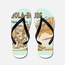 NOLA-Hoods Flip Flops