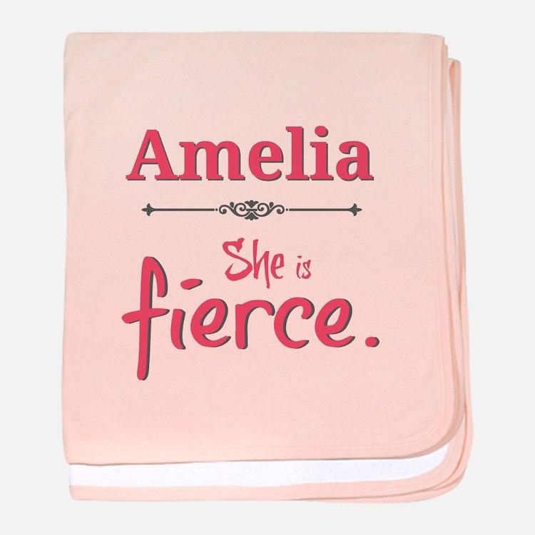 Amelia is fierce baby blanket