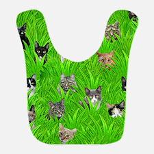 Cats in Grass Bib
