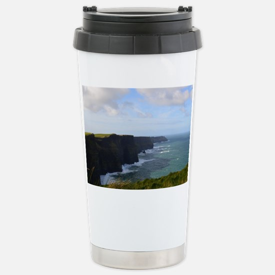 Sea Cliffs in Ireland Stainless Steel Travel Mug