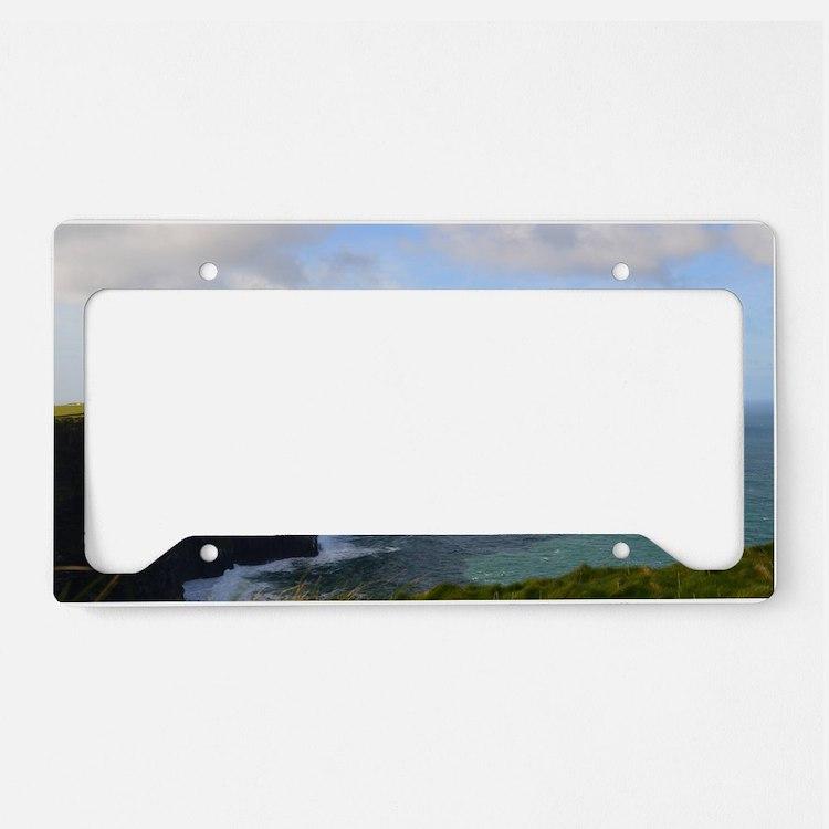 Sea Cliffs in Ireland License Plate Holder