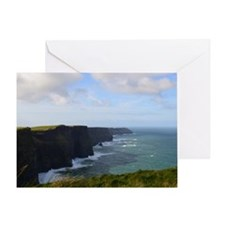 Sea Cliffs in Ireland Greeting Card
