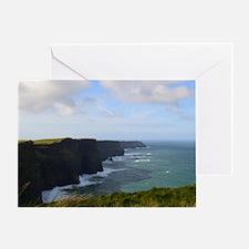 Sea Cliffs in Ireland Greeting Card