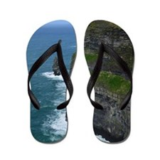 Gorgeous Sea Cliffs Flip Flops