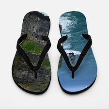 Gorgeous Sea Cliffs Flip Flops