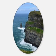 Gorgeous Sea Cliffs Sticker (Oval)