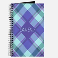 Spring Lilac Plaid Journal