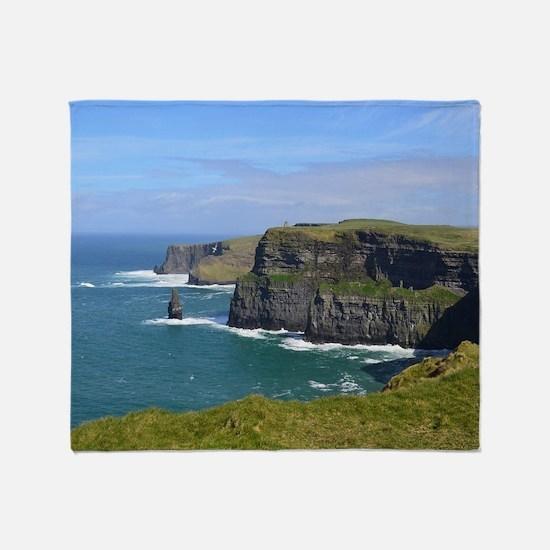 Cliffs of Moher Throw Blanket