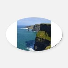 Gorgeous Cliffs of Moher Views Oval Car Magnet