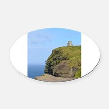 O'Brien's Tower Cliffs of Moher Oval Car Magnet