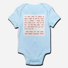 TOO MANY YEARS Infant Bodysuit