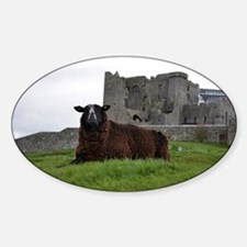 Sheep in Front of Rock of Cashel Decal