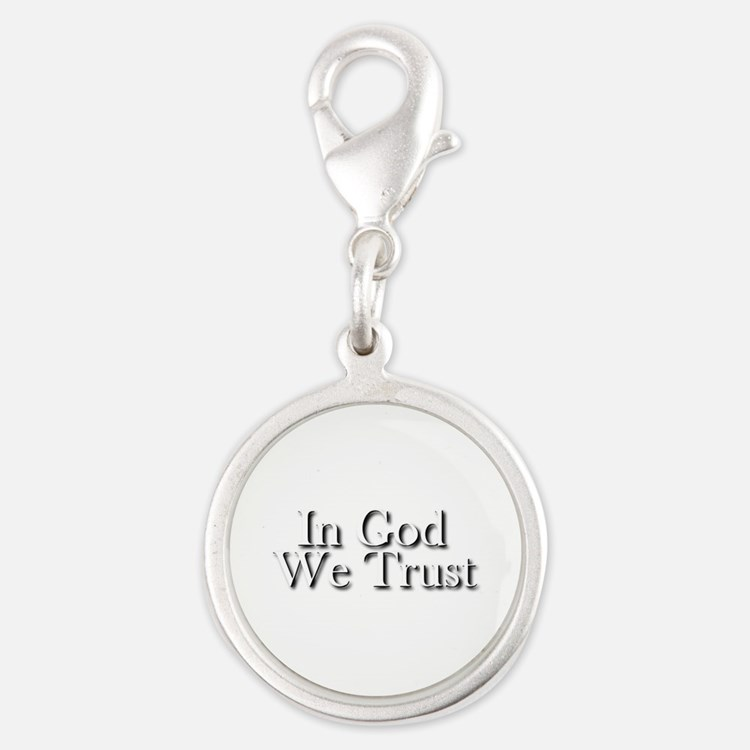 In God we trust Silver Round Charm