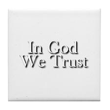 In God we trust Tile Coaster