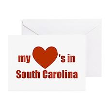South Carolina (2 sided) Greeting Cards (Package o