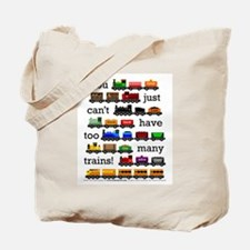 Too Many Trains Tote Bag