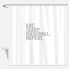 Eat Sleep Baseball Repeat Shower Curtain