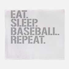 Eat Sleep Baseball Repeat Throw Blanket