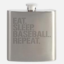 Eat Sleep Baseball Repeat Flask