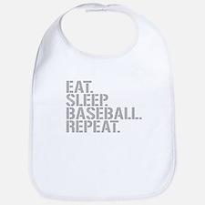 Eat Sleep Baseball Repeat Bib