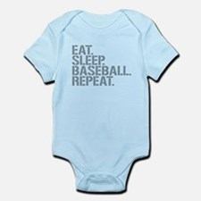 Eat Sleep Baseball Repeat Body Suit