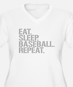 Eat Sleep Baseball Repeat Plus Size T-Shirt