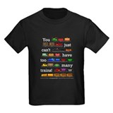 Trains Kids T-shirts (Dark)