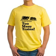 Too Many Trains Black Lettering T-Shirt