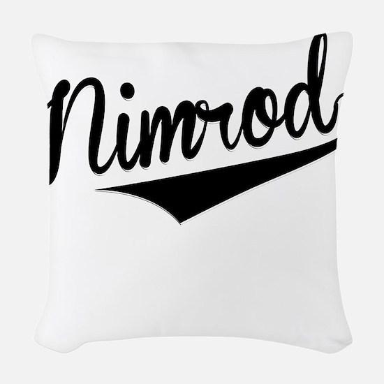 Nimrod, Retro, Woven Throw Pillow