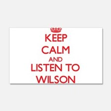 Keep Calm and Listen to Wilson Wall Decal