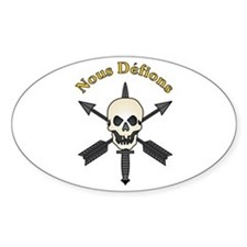 Nous Defions 2 Oval Decal