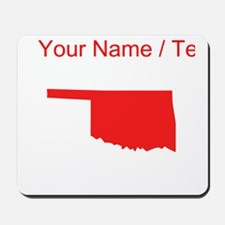 Custom Red Oklahoma Silhouette Mousepad