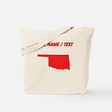 Custom Red Oklahoma Silhouette Tote Bag