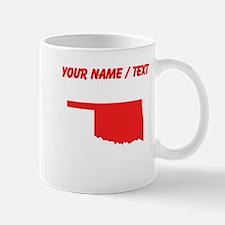 Custom Red Oklahoma Silhouette Mugs