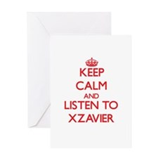 Keep Calm and Listen to Xzavier Greeting Cards