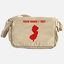Custom Red New Jersey Silhouette Messenger Bag