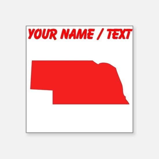Custom Red Nebraska Silhouette Sticker