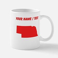 Custom Red Nebraska Silhouette Mugs
