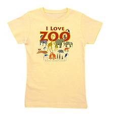 I Love Zoo Girl's Tee