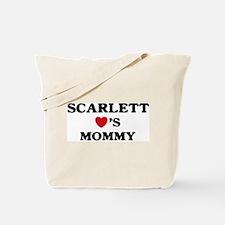 Scarlett loves mommy Tote Bag