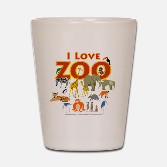 I Love Zoo Shot Glass