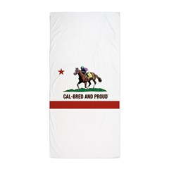 CAL-BRED AND PROUD Beach Towel