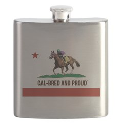 CAL-BRED AND PROUD Flask