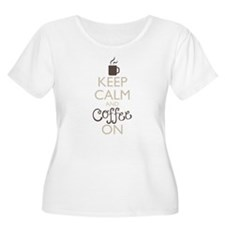 Keep Calm and Coffee On Plus Size T-Shirt